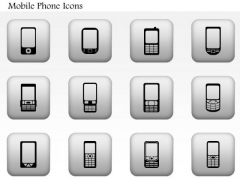 Business Diagram Different Types Of Mobile Phones Editable Icons Presentation Template