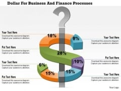 Business Diagram Dollar For Business And Finance Processes Presentation Template
