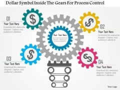 Business Diagram Dollar Symbol Inside The Gears For Process Control Presentation Template