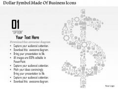 Business Diagram Dollar Symbol Made Of Business Icons Presentation Template