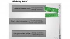 Business Diagram Efficiency Ratio PowerPoint Ppt Presentation