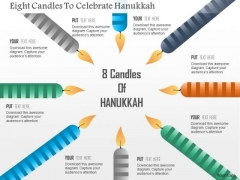 Business Diagram Eight Candles To Celebrate Hanukkah Presentation Template
