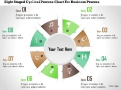 Business Diagram Eight Staged Cyclical Process Chart For Business Process Presentation Template