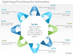 Business Diagram Eight Staged Text Boxes For Information Presentation Template