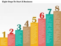 Business Diagram Eight Steps To Start A Business PowerPoint Templates