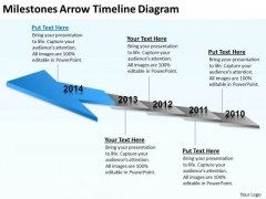 Business Diagram Examples Milestones Arrow Timeline Ppt PowerPoint Templates