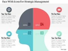 Business Diagram Face With Icons For Strategic Management Presentation Template