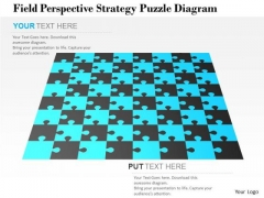 Business Diagram Field Perspective Strategy Puzzle Diagram Presentation Template