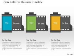 Business Diagram Filmrolls For Business Timeline Presentation Template