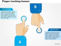 Business Diagram Finger Touch With Human Hands For Technology Presentation Template