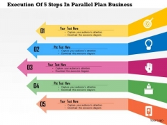 Business Diagram Five Arrows For Operations Management Presentation Template