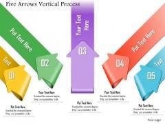 Business Diagram Five Arrows Vertical Process Presentation Template