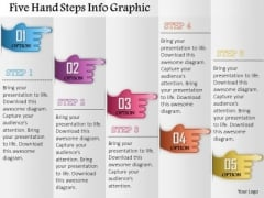 Business Diagram Five Hand Steps Info Graphic Presentation Template