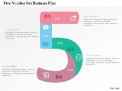 Business Diagram Five Number For Business Plan PowerPoint Templates