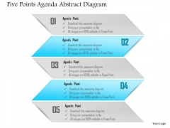 Business Diagram Five Points Agenda Abstract Diagram Presentation Template