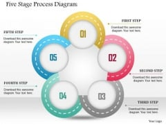 Business Diagram Five Stage Process Diagram Presentation Template