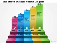 Business Diagram Five Staged Business Growth Diagram Presentation Template
