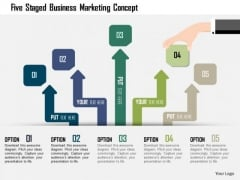 Business Diagram Five Staged Business Marketing Concept Presentation Template