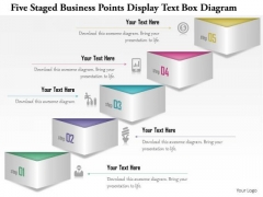 Business Diagram Five Staged Business Points Display Text Box Diagram Presentation Template