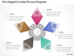 Business Diagram Five Staged Circular Process Diagram Presentation Template