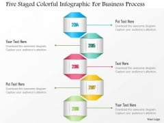 Business Diagram Five Staged Colorful Infographic For Business Process Presentation Template