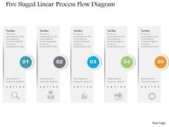 Business Diagram Five Staged Linear Process Flow Diagram PowerPoint Template