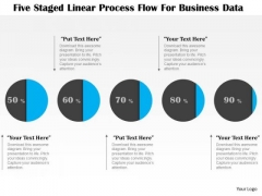 Business Diagram Five Staged Linear Process Flow For Business Data Presentation Template