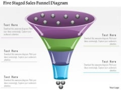 Business Diagram Five Staged Sales Funnel Diagram Presentation Template