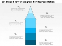 Business Diagram Five Staged Tower Diagram For Representation PowerPoint Slide