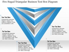 Business Diagram Five Staged Triangular Business Text Box Diagram Presentation Template
