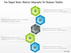 Business Diagram Five Staged Vector Abstract Infographic For Business Timeline Presentation Template