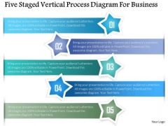 Business Diagram Five Staged Vertical Process Diagram For Business Presentation Template