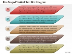 Business Diagram Five Staged Vertical Text Box Diagram Presentation Template