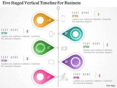Business Diagram Five Staged Vertical Timeline For Business Presentation Template
