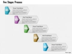 Business Diagram Five Stages Process Presentation Template