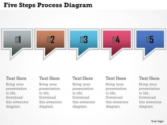 Business Diagram Five Steps Process Diagram Presentation Template
