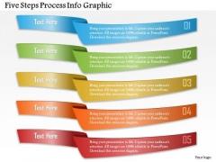 Business Diagram Five Steps Process Info Graphic Presentation Template