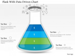 Business Diagram Flask With Data Driven Chart PowerPoint Slide