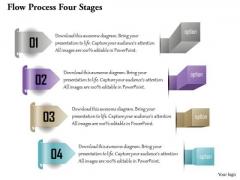 Business Diagram Flow Process Four Stages Presentation Template