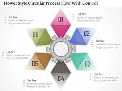Business Diagram Flower Style Circular Process Flow With Control Presentation Template