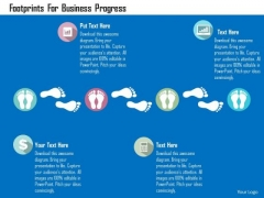 Business Diagram Footprints For Business Progress Presentation Template