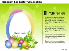 Business Diagram For Easter Celebration Presentation Template