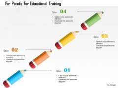 Business Diagram For Pencils For Educational Training Presentation Template