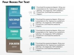Business Diagram Four Boxes For Text Presentation Template