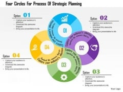 Business Diagram Four Circles For Process Of Strategic Planning Presentation Template