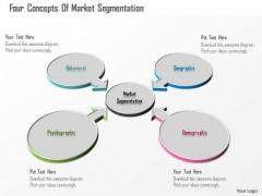 Business Diagram Four Concepts Of Market Segmentation Presentation Template