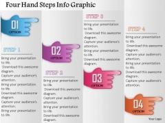 Business Diagram Four Hand Steps Info Graphic Presentation Template