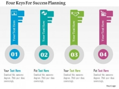 Business Diagram Four Keys For Success Planning Presentation Template
