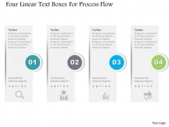 Business Diagram Four Linear Text Boxes For Process Flow PowerPoint Template