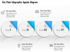 Business Diagram Four Point Infographic Agenda Diagram Presentation Template
